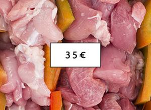 Pacco 35 - pollo, tacchino, coniglio a Piscina(Torino)
