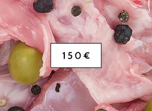 Pacco Scorta 150 - pollo, tacchino, coniglio a Piscina(Torino)